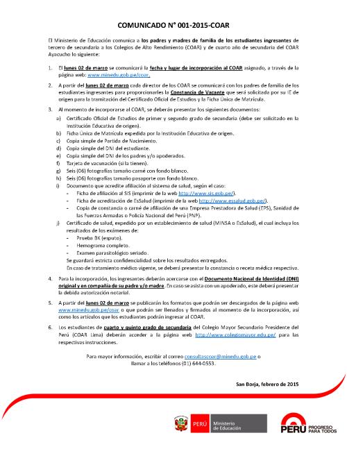 ComunicadoCOAR_20150220