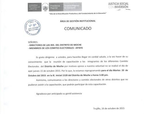 COMUNICADO 16OCT