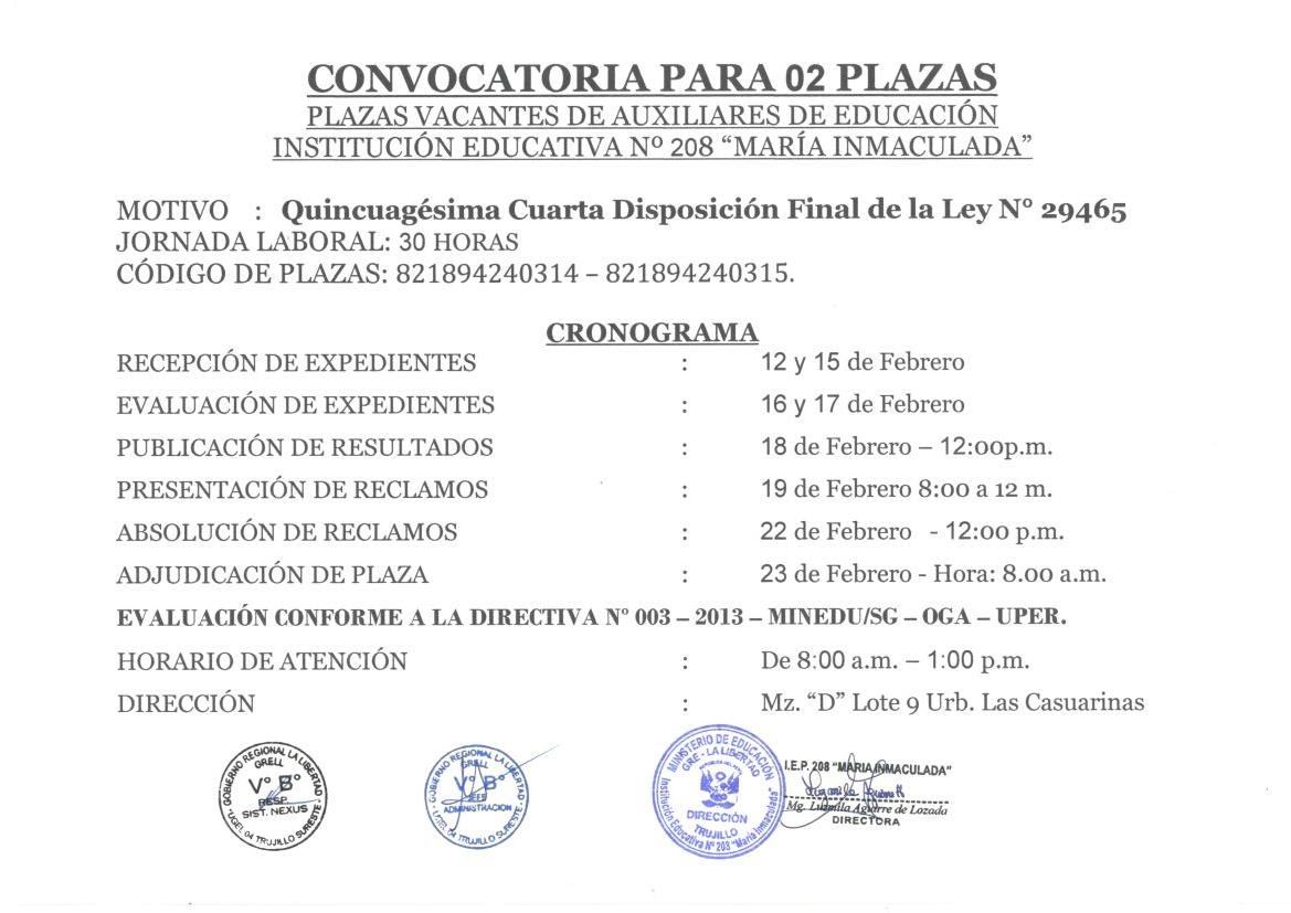 Convocatoria de plazas para auxiliares de educaci n i e n for Convocatoria para plazas docentes 2016