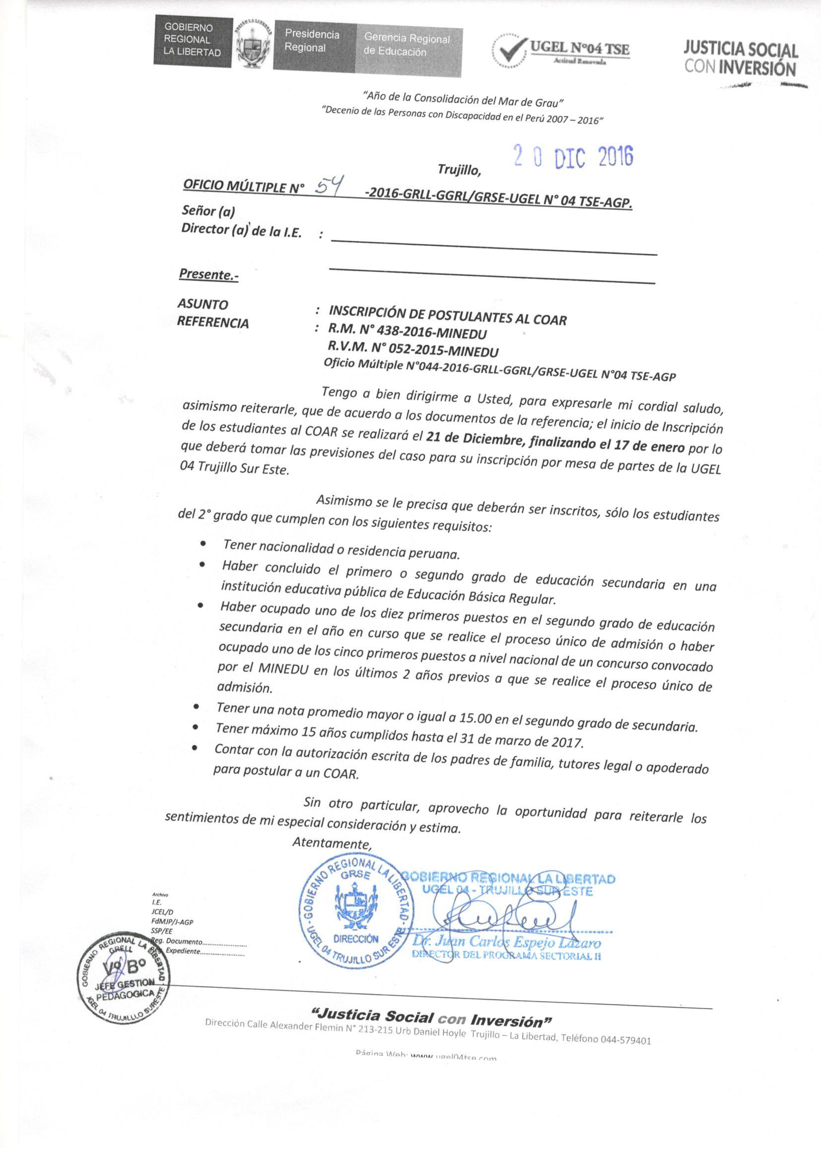 Contrato docente 2016 ugel santa contrato docente 2016 Convocatoria para las plazas docentes 2016