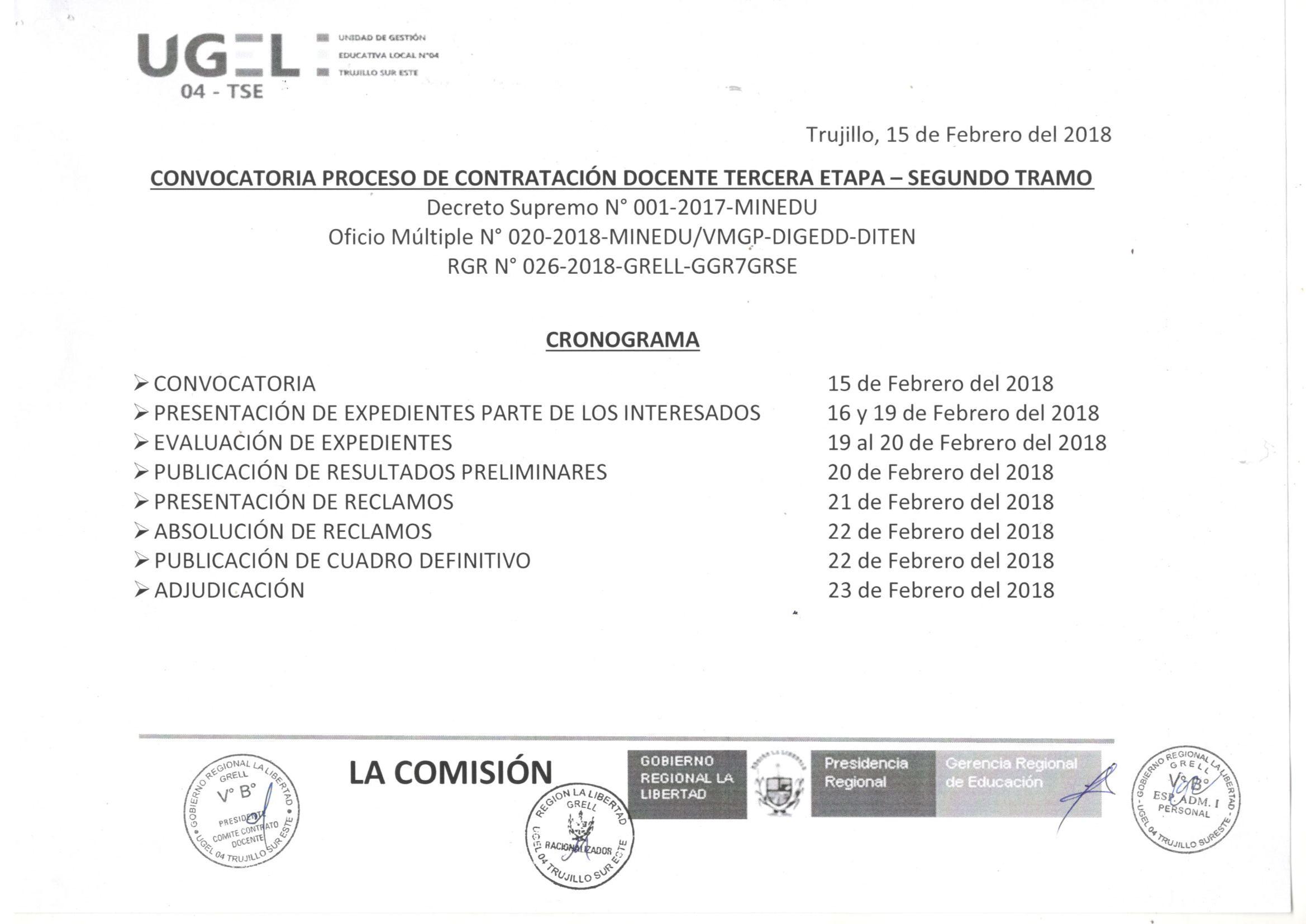 Convocatoria y relaci n de plazas del proceso de for Convocatoria para plazas docentes